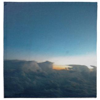 cloud birds napkin