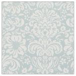Cloud Blue Floral Damask Fabric
