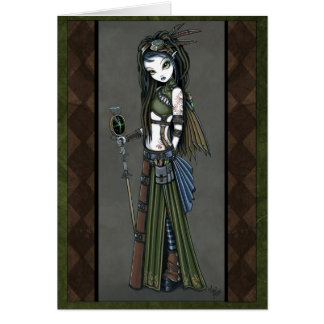 """Cloud Burst"" Tribal Steampunk Aviatrix Fairy Card"