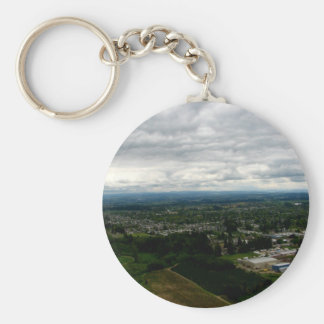 Cloud Cover Basic Round Button Keychain