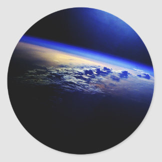 Cloud Cover over the Earth Round Sticker