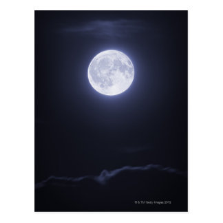 Cloud Covering Full Moon Postcard