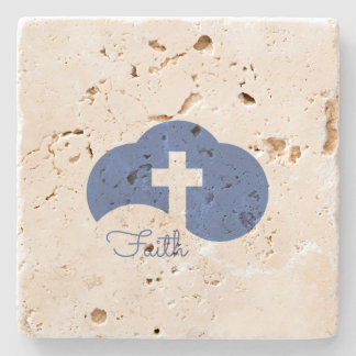 Cloud Cross Stone Coaster