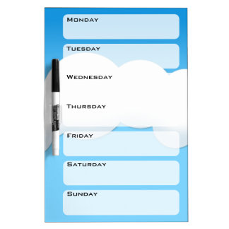 Cloud Dry Erase Board