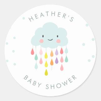 Cloud Envelope seal sticker Baby shower sprinkle