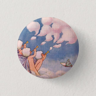 Cloud Faeries Making Clouds 1 Inch Round Button