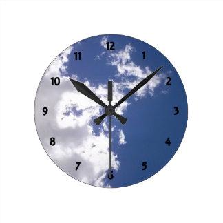 Cloud Fire Round Clock