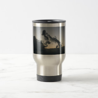 Cloud formation, dog skeleton? cartoon? 15 oz stainless steel travel mug