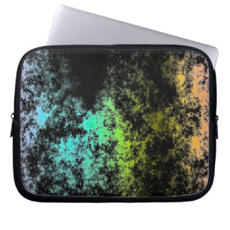 Cloud Galaxy Space Rainbow on Black Galaxies Computer Sleeves