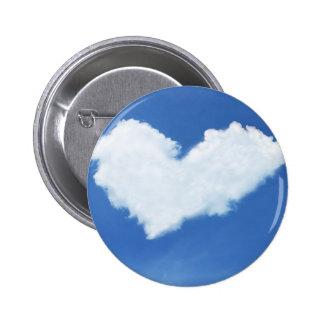 Cloud heart 2 inch round button