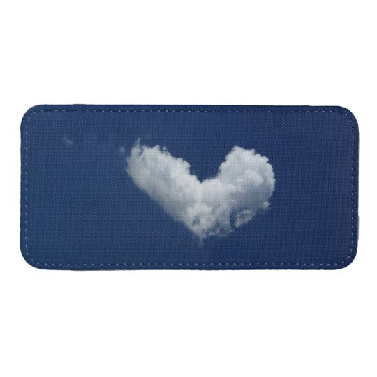 Cloud heart iPhone pouch