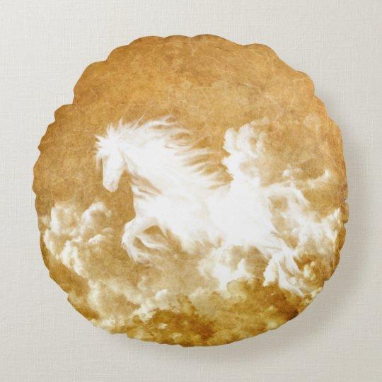 Cloud Horse Round Pillow