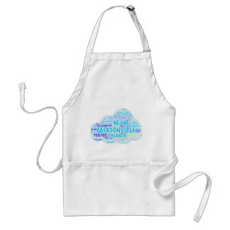 Cloud illustrated with cities of Florida State USA Standard Apron