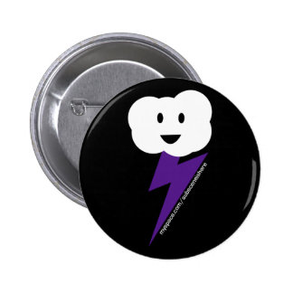 Cloud&Lightning Button! 2 Inch Round Button