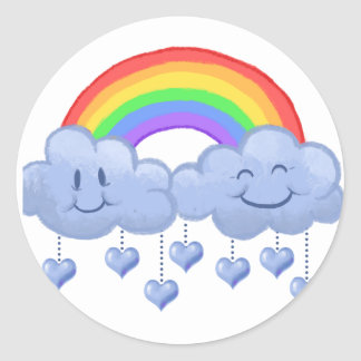 Cloud love Valentine's day Classic Round Sticker