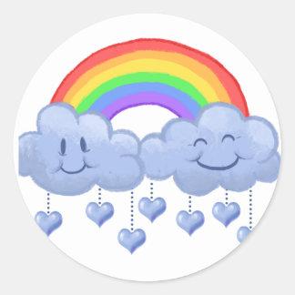 Cloud love Valentine's day Classic Round Sticker