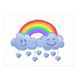 Cloud love Valentine's day Postcard