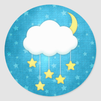 Cloud Mobile Classic Round Sticker
