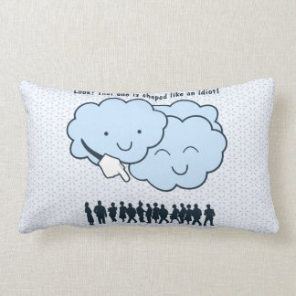 Cloud Mocks Human Shapes Funny Cartoon Lumbar Pillow