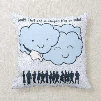 Cloud Mocks Human Shapes Funny Cartoon Pillows