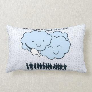Cloud Mocks Human Shapes Funny Cartoon Throw Pillow