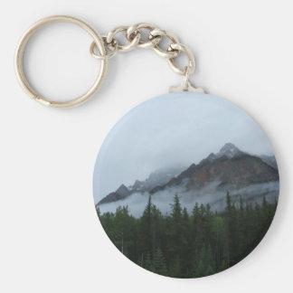Cloud Mountain Basic Round Button Keychain
