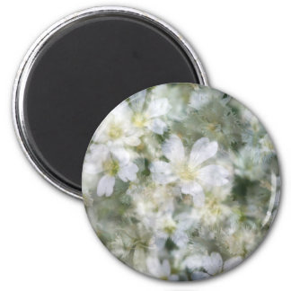 Cloud of White Flowers Magnet