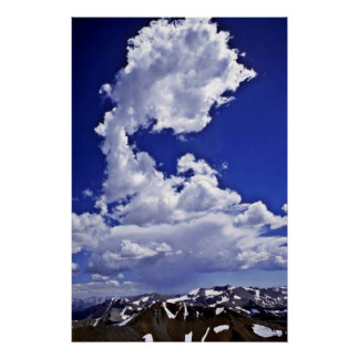 Cloud Over Sierra Nevada Poster