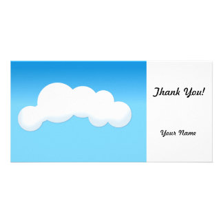 Cloud Personalized Photo Card