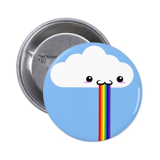 Cloud Puking Rainbow Pin