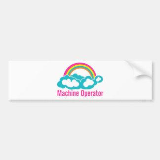Cloud Rainbow Machine Operator Bumper Sticker