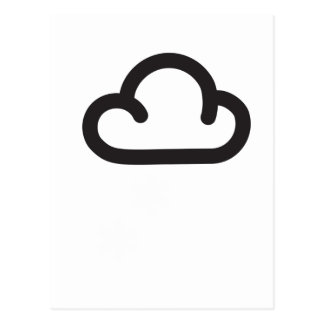 Cloud: Retro weather forecast symbol Postcard