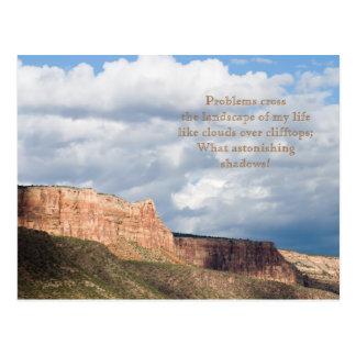 Cloud Shadows Poem and Photo Template Card Postcard
