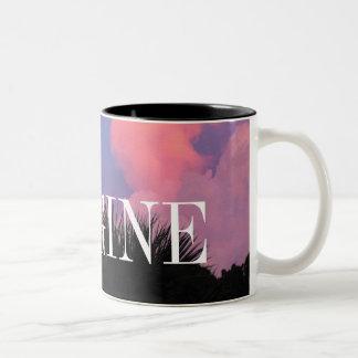 Cloud Shapes Two-Tone Coffee Mug