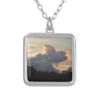 Cloud Shark Silver Plated Necklace