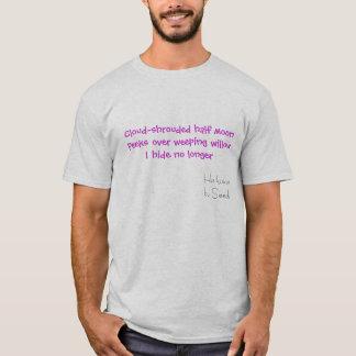 Cloud-shrouded half moon T-Shirt