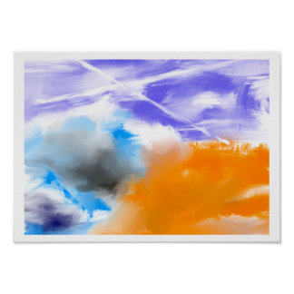 Cloud Skyz Abstract Poster