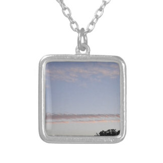 Cloud Streak Silver Plated Necklace