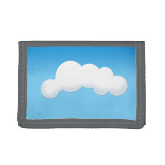 Cloud Trifold Wallets