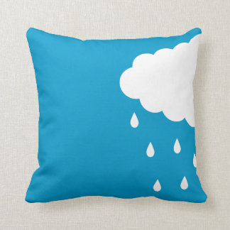 Cloud with Rain Drops Pillow