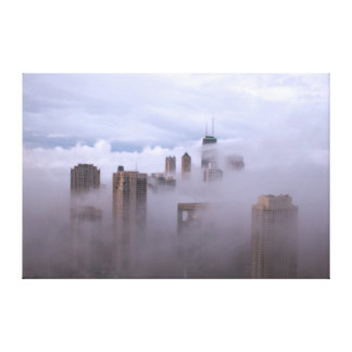 Cloudbase in the City On Canvas