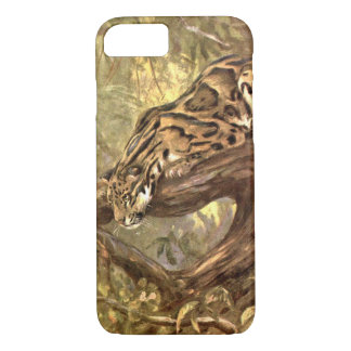 Clouded Leopard by CE Swan, Vintage Wild Animals iPhone 8/7 Case