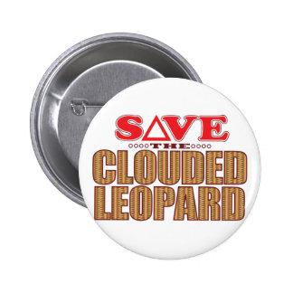 Clouded Leopard Save 2 Inch Round Button