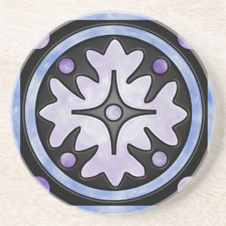 Clouded Stained Glass Drink Coaster