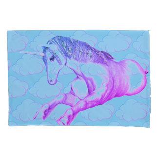 Clouded Unicorn Blue Pillowcase