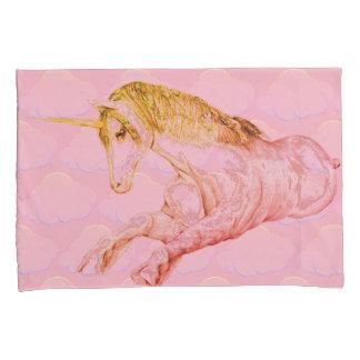 Clouded Unicorn Pink Pillowcase