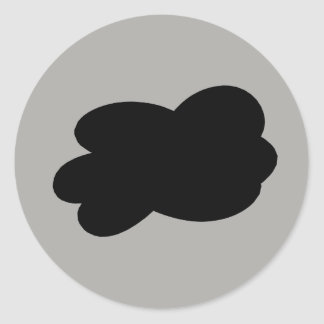Cloudiness Classic Round Sticker