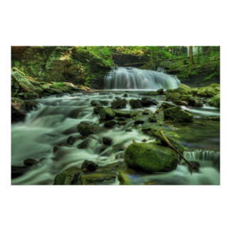Cloudland Canyon Waterfall Poster