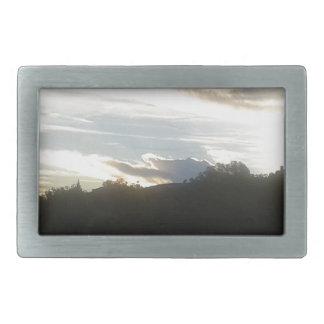 Clouds 1 rectangular belt buckle