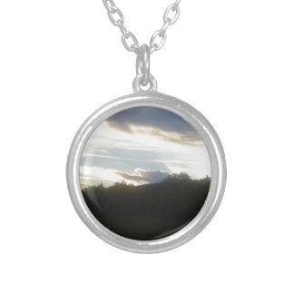 Clouds 1 silver plated necklace